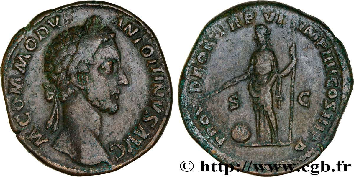 COMMODUS Sesterce VF