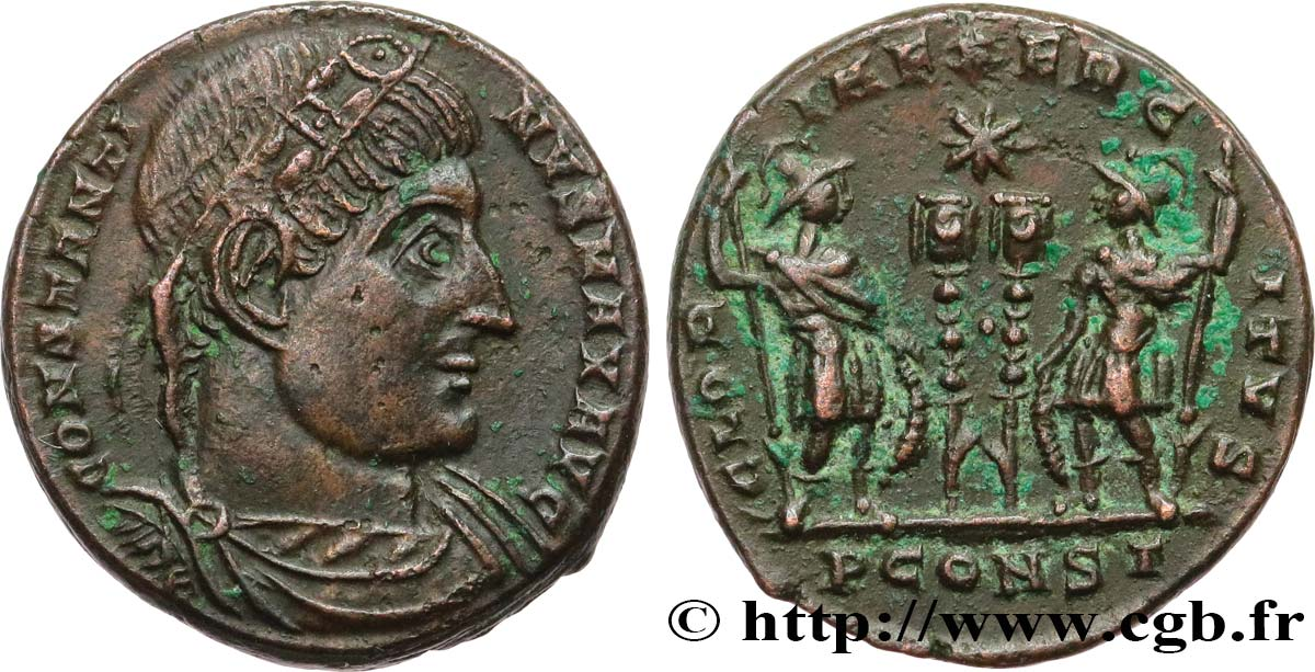 CONSTANTINE I THE GREAT Centenionalis ou nummus AU/AU