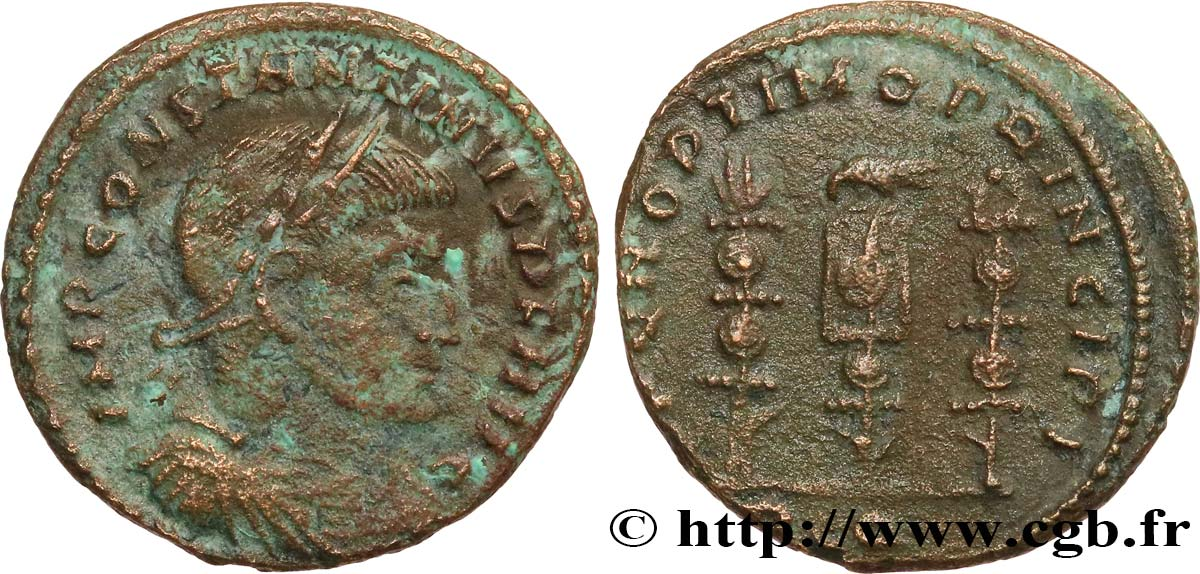CONSTANTINE I THE GREAT Follis ou nummus VF/XF