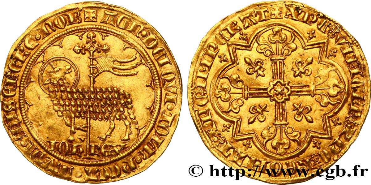 JOHN II  THE GOOD  Mouton d or 17/01/1355  AU/AU