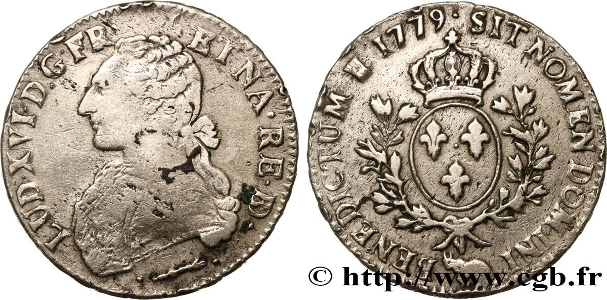 LOUIS XVI Écu dit aux branches dolivier de Béarn 1779 Pau VF/XF