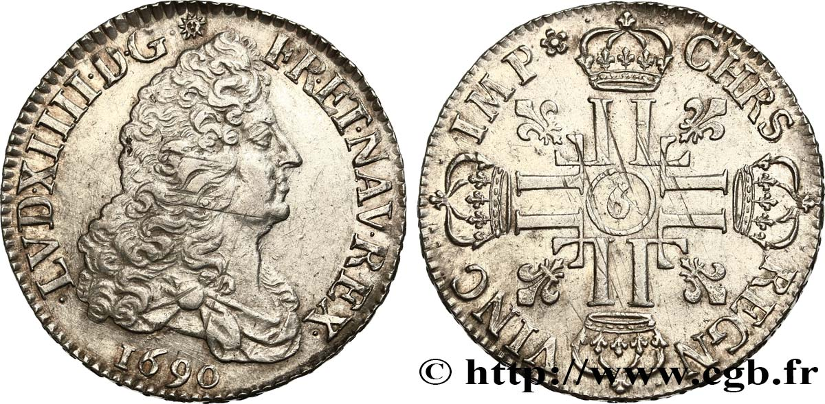 Louis Xiv The Sun King Cu Aux Huit L 1690 Rennes Bry475094 Royal