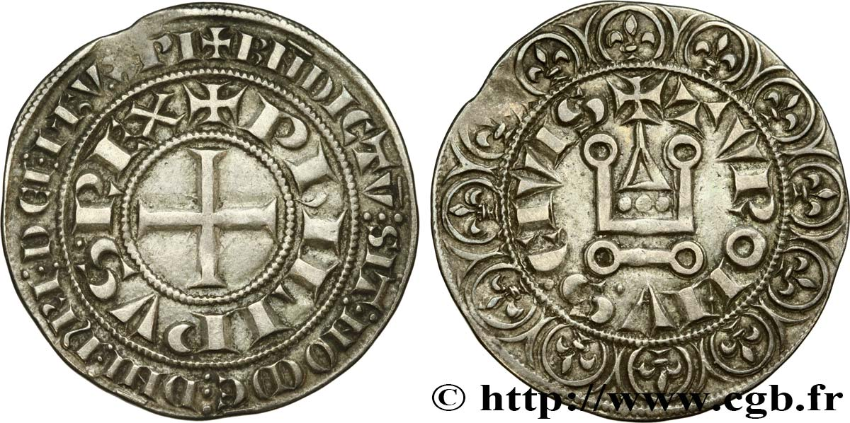 PHILIP III  THE BOLD  Gros tournois n.d.  XF