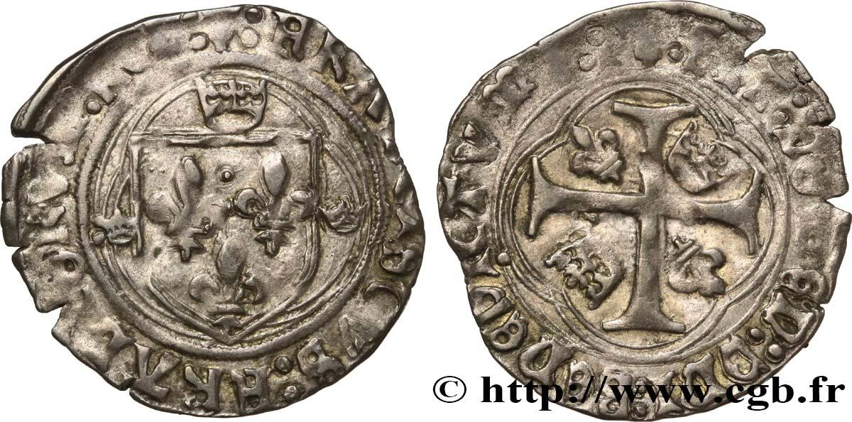 Francis I Grand Blanc A La Couronne 1er Type 23 01 1515 Tarascon Bry 582057 Royal Coins
