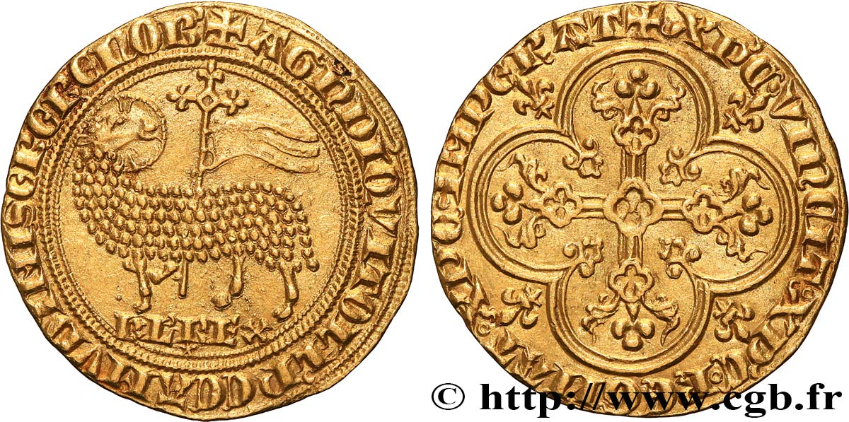 KARL IV  THE FAIR  Agnel d'or n.d.  fST63