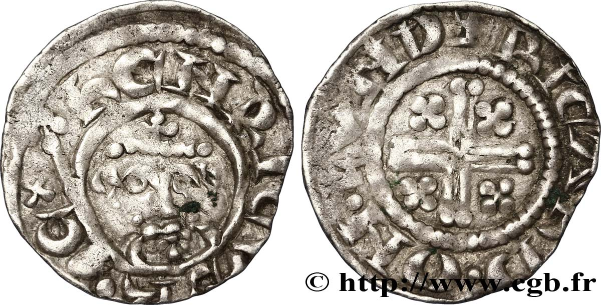 "ANGLETERRE - ROYAUME D ANGLETERRE - HENRY III PLANTAGENÊT Penny dit ""short cross"", classe 4c n.d. Londres TTB"