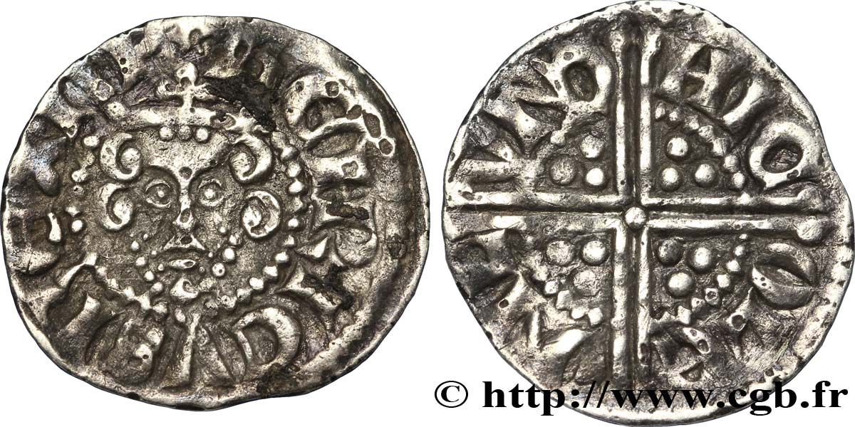 "ANGLETERRE - ROYAUME D ANGLETERRE - HENRY III PLANTAGENÊT Penny dit ""long cross"", classe 3a n.d. Canterbury TB+"
